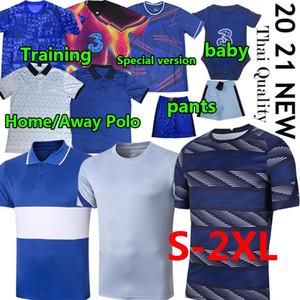 2020 2021 CFC Football Polo Formation Havvertz Kante Werner Supérieur Ziyech Abraham Mont Football Shorts Hommes Kit Kit Polos Pantalon Bébé Jerseys