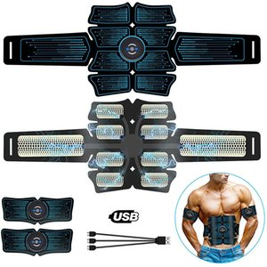 Estimulador muscular abdominal Intelligent Trainer EMS 6Pack Total Abs Fitness Equipamento Músculos Músculos em Home USB Charged Gym Q1225