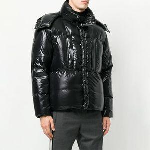 검은 겨울 자켓 남성 겨울 코트 유니섹스 윈드 브레이커 다운 재킷 Doudoune 따뜻한 파카 패션 여성 복어 재킷 후드