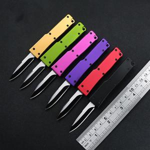 작은 440C 스테인레스 스틸 블레이드 접이식 나이프 알루미늄 핸들 포켓 캠핑 나이프 생존 야외 EDC 도구 저녁 식사 주방 칼