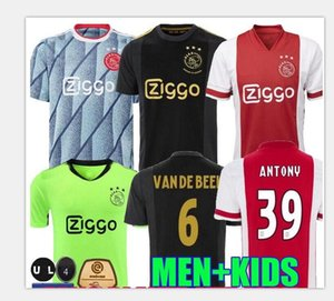 20 21 Ajax Ziyech Tadic Mens Soccer Jerseys Neres de Ligt Dolberg Red Away Home Football Chemises Nouveau Huntelaar de Jong Uniformes courts