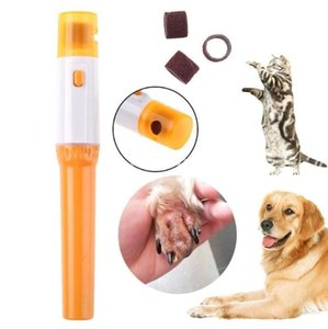 Stock Pet Electric Nail Clipper Uñas Pulidor Accesorios Cat Dog Pet Claw Claw Grooming Electric Hilling Kit Manicure Pet Herramienta