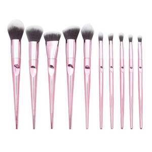 10 pcs Wet And Wild Series Makeup Brush Hand Thumb Handle Brush Set Beauty Tools Foundation Brushes Multi-Function Brush Set
