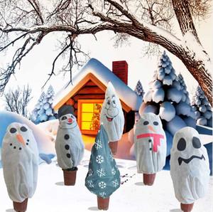 Decorações de Natal Não-tecida Árvore de Natal Capa protetora Planta Frio e inseto-à prova de árvore Capa dos desenhos animados Boneco de neve Padrão DWB3164