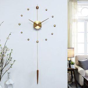 Hoshine Modern Design Large Wall Clock House Wall Decoration Watch Klok Home Zegar Scienny Big Size Horloge