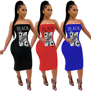 Plus size womens dresses one piece set sexy strapless bodycon dress fashion print evening dress women clothes klw0149