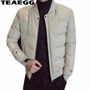 Giacca di cotone Teaegg uomo invernale Blouson Homme Hiver Men Parkas Chaquetas Hombre Inverio Abbigliamento 2018 Casual Parka Hombreal15051