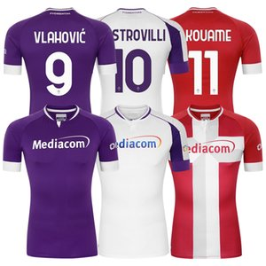 2020 2021 Sezon Fiorentina Futbol Forması Ev / Uzaktan / Second Uzakta 9 # Vlahovic 10 # Castrovilli Fan Edition kaliteli adam sweatshirt