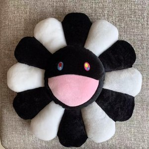 New 40cm Kawaii Murakami Sunflower Pillow Soft Flower Stuffed Doll Kaikai Kiki Colorful Plush Toy Cushion Gift Y200723
