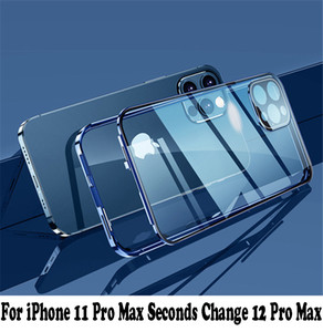 iPhone 11 Pro Max Seconds 변경 12 Pro Max 360 전체 보호 자석 이중 유리 케이스 아이폰 12 Pro Max Case TG2