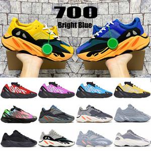 Con scatola New kanye 700 v1 v2 MNVN riflettente Bright Carbon Blue sun Tie dye Solid Grey uomo scarpe da corsa da donna sneakers