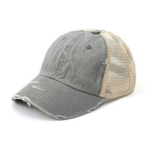 2020 Mode Frauen Pferdeschwanz Baseball Hut Für Mädchen Sommer Mesh Atmungsaktives Loch Retro Shiny Sports Einstellbare Visierkappe Sun Hüte H Jlljt