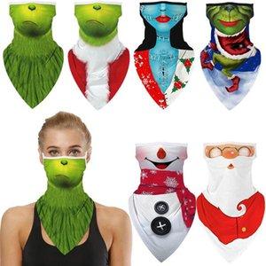Comment le grinch a volé Noël santa claus bonhomme de neige cosplay visage masque masque encadrement encadrement masques bandana bandeau Balaclava