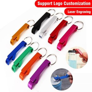 Pocket Key Chain Beer Cola Bottle Opener Aluminum Alloy Claw Bar Small Beverage Keychain Ring Advertising LOGO Promotional Gifts YL0169