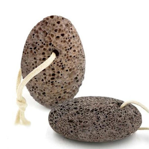 القشريات الطبيعية الحجر القفشة الخفية الخفط الحجارة لكمة الثقوب سبا أدوات الحبل تصميم reusable بني مريحة CCD3521