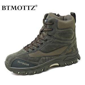 Taktische militärische Kampfstiefel Männer Echtes Leder US Army Jagd Trekking Camping Bergsteigen Winterarbeit Schuhe Bot Btmottz LJ201023