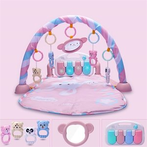 Activity Gym Music Play Mat Carpet Educational Rack Crib Baby Rattle Toys With Bed Bell Fitness Mats Q1121