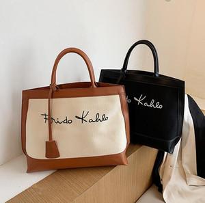 Bolsas de lona nova moda mulheres bolsas de ombro grande capacidade saco de compras senhora sacola saco de lona sênior senhora bolsa