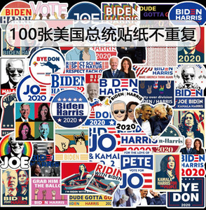 Autocollant de voiture Biden Harries Lettres Stickers Etats-Unis Président Election Joe Biden Affiche Notecase Décalcomanie Bagage Gita Pâche 100pcs / Ensembles FWe2979