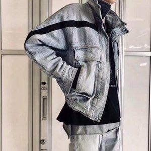 19FW FOG FEAR OF GOD Pocket Denim Jacket Blue Fashion Loose Casual Jacket Street Coat Men Women Denim Jacket Outwear HFHLJK003
