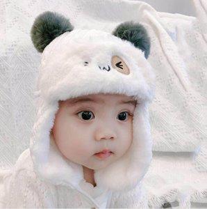 아기 모자 유행 따뜻한 귀 보호 모자 귀여운 덫 hats 야외 모자 겨울 소년 소녀 두꺼운 봉 제 모자 어린이 양모 니트 모자