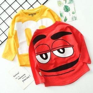 Мальчик девушка одежда с длинным рукавом футболка толстовка писем печатает хлопок свободно топ куртка пальто Горячие продажи 3-9age детская качественная одежда Y200831