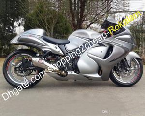 Kit carenatura ABS per Suzuki GSXR1300 GSXR 1300 2008 ~ 2012 2013 2014 2015 parti di carrozzeria in moto argento 2016 (stampaggio a iniezione)