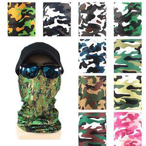 3D bedruckte Tarnung Magische Schal Gesichtsmaske Nahtloser Schal Headscarf Reitmaske Headscarf Weihnachtsdekorationen IIA907