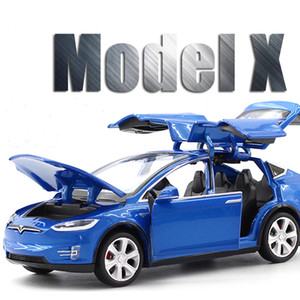 New 1:32 Tesla MODEL X Alloy Car Model Diecasts & Toy Vehicles Toy Cars Free Shipping Kid Toys For Children Gifts Boy Toy J1202 J1203