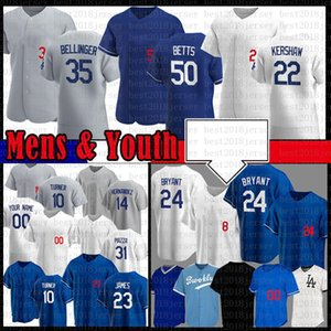 Custom Mookie Betts Cody Bellinger Clayton Kershaw Baseball Jersey Justin Turner Los Hernandez Corey Seging Angeles Men Youth 7 Julio Urias