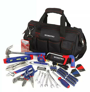 156-Piece Home Repair Tool Set - Daily Use Hand Tool Kit with Wide Open