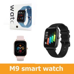 TOP SELLING M9 Smart Watch pulsera 2020 Pista de ritmo cardíaco y seguimiento de dormir Fitness Deporte impermeable M9 SmartWatch PK T500 W26