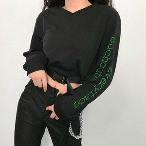 Women's Crop Hoodies Letter Pullover Long Sleeve Short Tops Casual Sweatshirt1