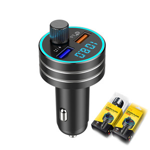 Dual USB QC3.0 fast charge Car Charger MP3 Audio Player FM Transmitter Handsfree Aux Modulator Mobile Phone Charger
