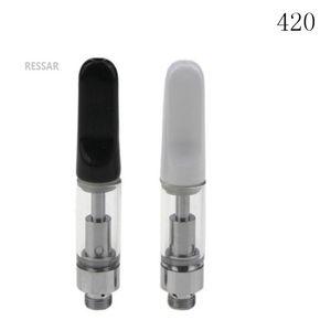 vape tank glass cartridges ceramic coil atomizer 510 thread mini bud oil vaporizer anti leaking top seller free DHL shipping open vape