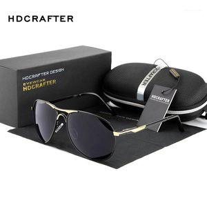 Солнцезащитные очки HDCRAFTER Polarized Sun Glasses для мужчин 2021 Дизайнер бренда Вождение Masculino Оптовая продажа1
