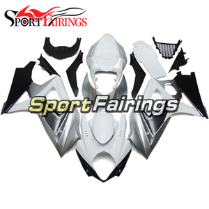 Complete Fairings For GSXR1000 2007 2008 K7 Suzuki GSXR 1000 07 08 Motorcycle Full Injection ABS Fairings Kit White Grey