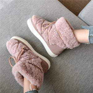 FEDONAS Sweet Women Wool Cow Suede Ankle Boots Female Big Size Snow Boots Dancing Casual Shoes Woman Newest Flats Platform Boots 201124