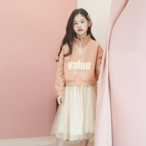 Fashion Teenage Girls Skirt Set Two Piece Lace Tutu Skirts + Value Letter Sweatshirts Spring Autumn Tracksuits Kids Clothes Baby Y1117