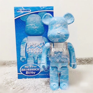 HOT 400% 28CM Bearbrick The ABS Water Crest Fashion bear Chiaki figures Toy For Collectors Be@rbrick Art Work model decoration toys gift