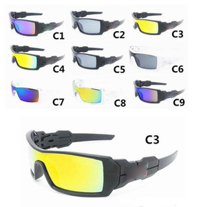 Erkekler Güneş Gözlüğü Erkekler için 9 Renkler Yeni Varış Spor Sunglass Tasarımcı Gözlük Gözlüğü Güneş Cam