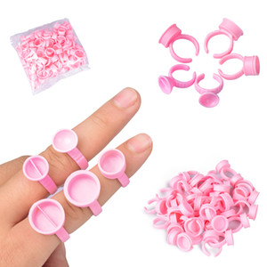 100Pcs Disposable Caps Microblading Pink Ring Tattoo Ink Cup For Tattoo Needle Supplies Accessorie Makeup Tattoo Tools