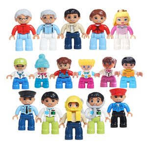 5PCS 10PCS Large Building Blocks Dolls Children Role Play Games Figures Compatible Blocks Parts Y1130