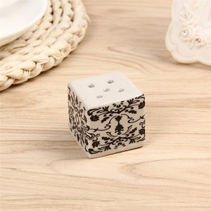 Приправа горшка творческий новый стиль классические черные белые специи банку свадебные благополучие подарка подарок соль перца бутылка декоративный рисунок 3 3LW P1