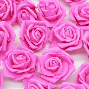 50pcs lot 6cm Artificial PE Foam Rose Flower Head Wedding Party Decoration Home Garden Deco DIY Wreath Garland Craft Fake Flower