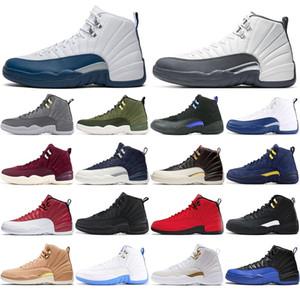 Miglior 2021 Nuovo Jumpman 12 University Gold Sport Sneakers 12s Sindacata Scarpe da basket per uomo Vachetta Tan Dark Concord Mens T