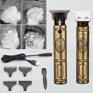 USB Rechargeable T9 Buddha Head Electric Hair Clippers Hair Trimmer Shaver Trimmer Retro Oil Head Clippers Cut Machine
