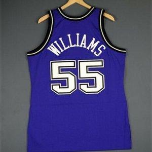 Özel 604 Gençlik Kadın Vintage Jason Williams Mitchell Ness 98 99 Koleji Basketbol Forması Boyutu S-4XL veya Özel Herhangi Bir Ad veya Numara Forması
