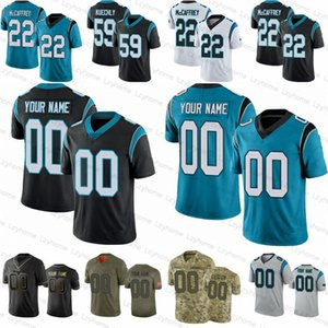 Uomo personalizzato Donne Gioventù 22 Christian McCaffrey 11 Robby Anderson 53 Brian Burns Moore Teddy Bridgewater Curtis Samuel Jeremy Chinn Car Jersey