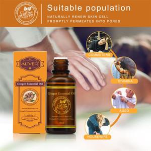 30 ml Sıcak Satış Saf Bitki Esansiyel Yağı Zencefil Yağı Vücut Masaj Termal Vücut Ginger Kazıma Terapi Spa Ücretsiz Nakliye Için